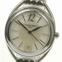 Chaumet W23613-24a Quartz Silver Dial Stainless Ladies Watch From Japan [b0602]