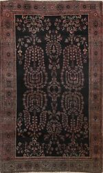 Antique Pre-1900 Floral Oriental Traditional Area Rug Hand-knotted 4'x7' Carpet