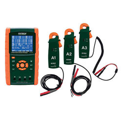 Extech Pq3450-2-nist 200a 3-phase Power Analyzer Kit With Nist Cal