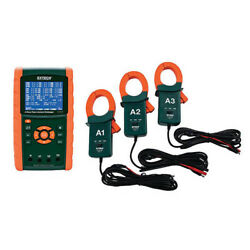 Extech Pq3450-12-nist 1200a 3-phase Power Analyzer Kit With Nist Cal