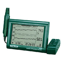 Extech Rh520a-nist Humidity And Temp Chart Recorder And Probe W/nist Cal
