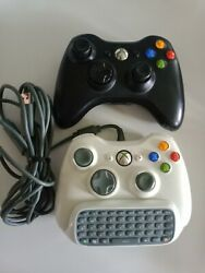 Microsoft Xbox 360 Oem Controllers Wiredandwireless With Keypad And Charging Cord