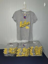 Lot Of 52 Iowa Hawkeyes V-neck T-shirt In Gray - Very Soft