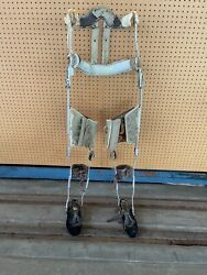 Vintage Polio Leg Brace Shoe Leather And Metal Medical Steampunk Pair With Shoes
