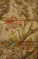 2 Pottery Barn Vanessa Drape Pair 50x 84 L Curtain Panel Floral Tan Coral Lined