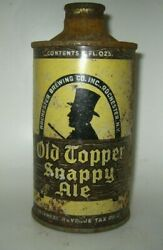 Old Topper Snappy Ale White Letters Cone Top Beer Can Rochester, New York Irtp