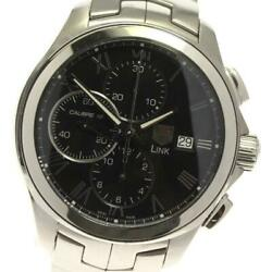 Tag Heuer Link Cat2012 Chronograph Cal.16 Automatic Stainless Men's Watch[b0603]