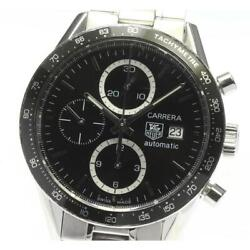 Tag Heuer Carrera Chronograph Cv2010 Automatic Stainless Menand039s Watch [b0603]