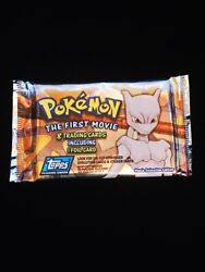 1998 Pokemon The First Movie 8 Trading Cards Including 1 Foil Card Unopened Pack
