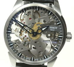 Tissot T-complexion Skelette T070405a Manual Winding Men's Watch Pre Owned U0603