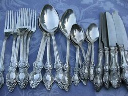 Russian Russia Silver Plated Melchior Silverware Flatware Set Of 24 Pieces