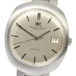 Schaffhausen Date Antique Automatic Stainless Silver Dial Menand039s Watch U0603