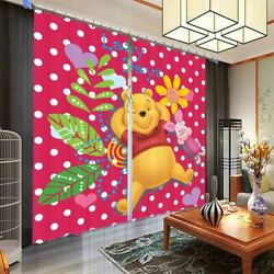 Lovely Bear And Pig 3d Blockout Photo Print Curtain Fabric Curtains Window