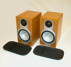 Monitor Audio Silver Rs1 Pair Of Natural Oak Bookshelf Speakers -made In England