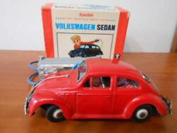 Difficult To Obtain Bandai Vw Wagen Beetle Tinplate Toy Things At The Time