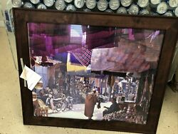 """""""last Man Standing"""" Authentic Tv Prop Used On Set. Mikes Officemantle Art. 36x26"""