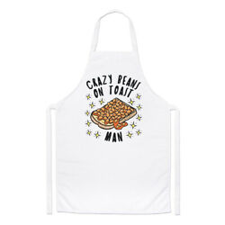 Crazy Beans On Toast Man Stars Chefs Apron Funny Food Breakfast Cooking Baking