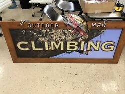 """""""last Man Standing"""" Authentic Tv Prop Used On Set. Outdoor Man Signage 7ft X 2ft"""