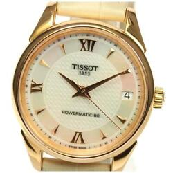 Tissot T Classic Powermatic 80 Date Automatic Leather K18pg Ladies Watch [b0604]