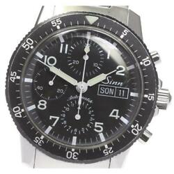 Sinn 103 Chronograph Day-date Automatic Black Dial Stainless Men's Watch [b0604]