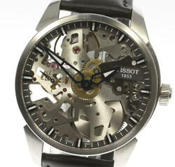 Tissot T-complexion Skelette T070405a Manual Winding Men's Watch Pre Owned U0604