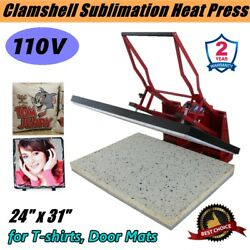 24 X 31 110v Clamshell Sublimation Heat Press Machine Large Format For T Shirt