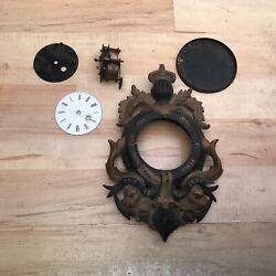 Cartel Clock Cast Iron Case With Military Connections Restoration Project