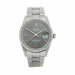 Rolex Oyster Perpetual Date Stainless Steel Watch 15010 34mm W007463