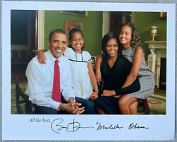 President Barack Obama And Michelle Obama Signed 8x10 Color Photo - Collectible