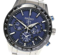 Seiko Astron Day-date Sbxc015 / 5x53-0ae0 Stainless Blue Dial Menand039s Watch U0605
