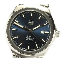 Tag Heuer Link Date Wbc2112 Calibre 5 Self-winding Stainless Men's Watch [b0605]