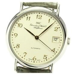 Portofino Iw3513 Date Automatic Beige Dial Stainless Men's Watch [b0605]