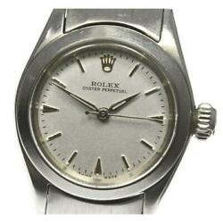 Rolex Oyster Perpetual 6618 Cal.1130 Automatic Winding Ss Ladies Watch [b0605]