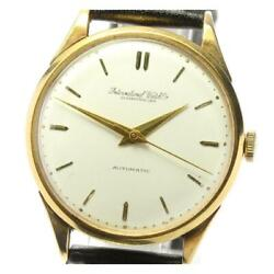 Schaffhausen Date Cal.852 Antique Self-winding Stainless Menand039s Watch [b0605]