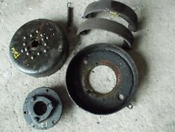 Mccormick Farmall F20 Ih Tractor Left Brake Shoes Drum And Bracket Parts