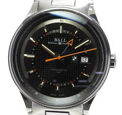 Ball Watch For.bmw Gmt Gm3010c Automatic Stainless Black Dial Menand039s Watch U0605