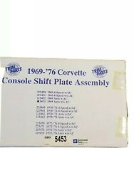1969-1976 Corvette Console Shift Plate Assembly With Bonus Badge Decal