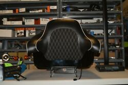 Harley Davidson Custom Suede Stitched Tour Pak, Seat, And Backrest Combo