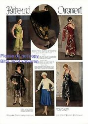 Color And Ornament 1 Page With Photo Images Germany 1929 20s Fashion Dress