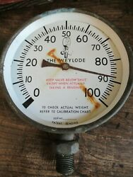 Vintage Weylode Tractor Farm Weighing Device Dial Wall Steam Punk Industrial