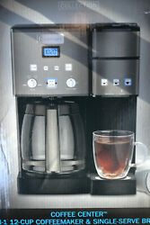 Cuisinart Black Stainless Coffee Center 12-cup Coffee Maker Single Serve Brewer