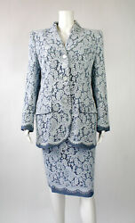 S/s 1999 Vintage Alexander Mcqueen For Givenchy Plaid Lace Suit Mint And Unworn