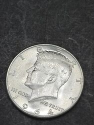 1964 Kennedy Half Dollar 90 Silver Coin.fresh Out The Paper Roll.
