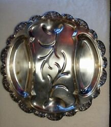 Ornate Silver-plate Serving Tray Epca Poole Silver Co 416 Lancaster Rose 19