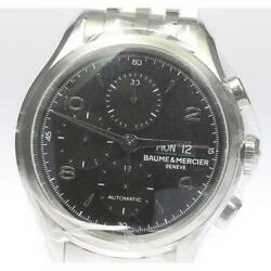 Baume And Mercier Clifton Chronograph M0a10212 Automatic Ss Menand039s Watch [b0606]