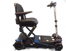 Enhance Mobility - The Transformer - Electric Folding Scooter - 4-wheel - Blue