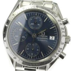 Omega Speedmaster Date 3511.80 Automatic Stainless Menand039s Watch From Japan[b0606]