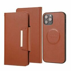 Removable Leather Case Retro Flip Wallet Stand Phone Cover For Iphone 12 Mini 11