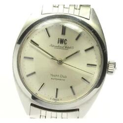 Yacht Club Date Automatic Silver Dial Stainless Steel Men's Watch [b0606]
