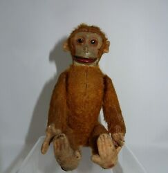 Super Rare Schuco Sitting Levered Monkey Toy, 6 1/4 Inches In Height